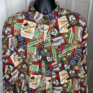 JACK DANIEL'S No. 7 Brand Long Sleeve Shirt Sz XXL